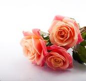 Bloemen en koffie Stock Foto