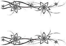 Bloemen en krommen Royalty-vrije Stock Fotografie