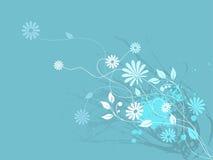 Bloemen en krul Stock Foto