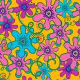 Bloemen en krullen Stock Afbeelding