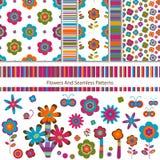 Bloemen en patronen Stock Afbeelding
