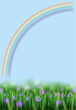 Bloemen en regenboog Royalty-vrije Stock Foto