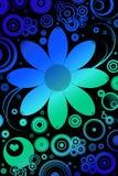 Bloemen en retro motieven Stock Afbeeldingen