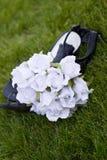 Bloemen en Schoenen royalty-vrije stock afbeelding
