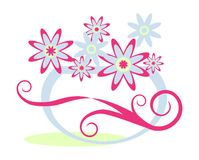 Bloemen en vaas vector illustratie
