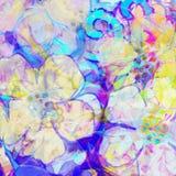 Bloemen en vlek Royalty-vrije Stock Foto