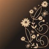 Bloemen en vlinders Royalty-vrije Stock Foto