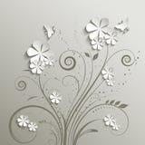 Bloemen en vlinders Stock Afbeelding