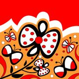 Bloemen en vlinders Stock Afbeeldingen