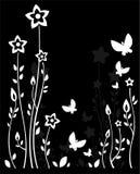 Bloemen en vlinders Royalty-vrije Stock Foto's