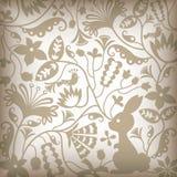 Bloemen en Vogel Stock Fotografie
