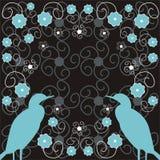 Bloemen en vogels Royalty-vrije Illustratie