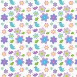 Bloemen en vogels Stock Afbeelding