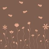 Bloemen en vogels Royalty-vrije Stock Foto