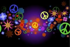 Bloemen en vrede Royalty-vrije Stock Afbeeldingen