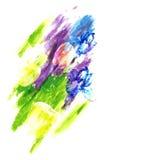 Bloemen en vruchten op kleurrijke abstracte achtergrond Vector illustratie Stock Illustratie