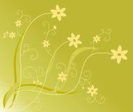Bloemen en wervelingen Royalty-vrije Stock Afbeeldingen