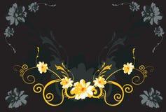 Bloemen en wervelingen Royalty-vrije Stock Foto