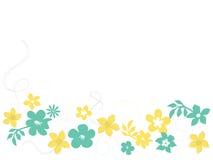 Bloemen en wervelingen vector illustratie