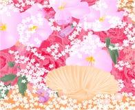 Bloemen en zeeschelpvector Royalty-vrije Stock Fotografie