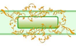 Bloemen etiketachtergrond Royalty-vrije Stock Fotografie