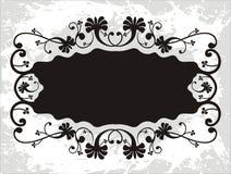 Bloemen etiketachtergrond vector illustratie