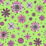 Bloemen etnisch boho naadloos patroon Stock Afbeeldingen