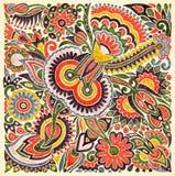 Bloemen etnisch ontwerp stock illustratie