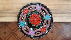 Bloemen etnisch ontwerp stock foto's