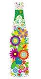 Bloemen fles royalty-vrije illustratie