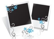Bloemen fotoframe royalty-vrije illustratie