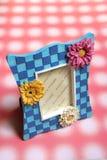 Bloemen fotoframe Stock Afbeeldingen