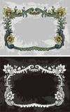 Bloemen frame als achtergrond stock illustratie