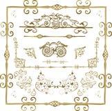 Bloemen frame elementen stock illustratie