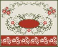 Bloemen frame en grens. Stock Afbeelding
