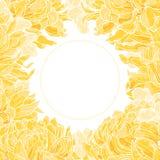 Bloemen frame met chrysant vector illustratie