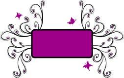 Bloemen Frame met het Magenta van Vlinders Royalty-vrije Stock Fotografie