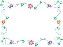 Bloemen Frame van Bloemen, Wijnstokken, en Bladeren vector illustratie