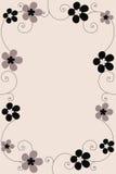 Bloemen frame - vector Stock Afbeelding