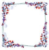 Bloemen frame voor foto's Stock Foto