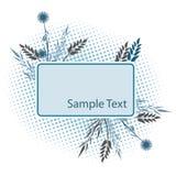 Bloemen frame voor tekst royalty-vrije illustratie