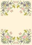 Bloemen frame voor uw ontwerp royalty-vrije stock foto