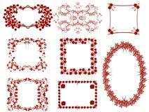Bloemen frames Royalty-vrije Stock Afbeeldingen