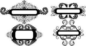Bloemen frames stock illustratie