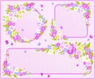 Bloemen frames. Royalty-vrije Stock Afbeelding