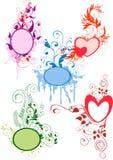 Bloemen frames royalty-vrije illustratie