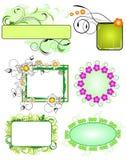 Bloemen frames inzameling Stock Afbeeldingen