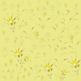 Bloemen gele bont kinderjaren als achtergrond Stock Foto's