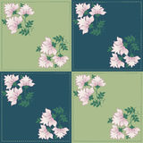 Bloemen geometrisch patroon voor lapwerk Stock Foto's