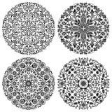 Bloemen geplaatste patronen Royalty-vrije Stock Afbeeldingen